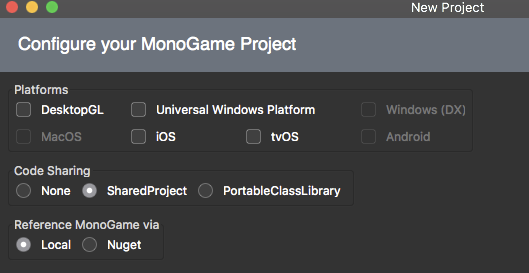 Add templates for Visual Studio Mac - Community | MonoGame