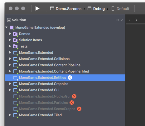 SOLVED] Unable to load MonoGame Extended solutions in Xamarin Studio